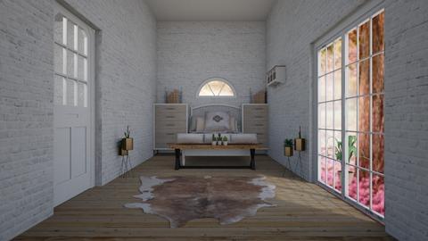 bedroom  - Rustic - Bedroom  - by NEVERQUITDESIGNIT
