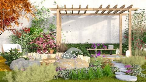 Zen yoga - Garden  - by its lia