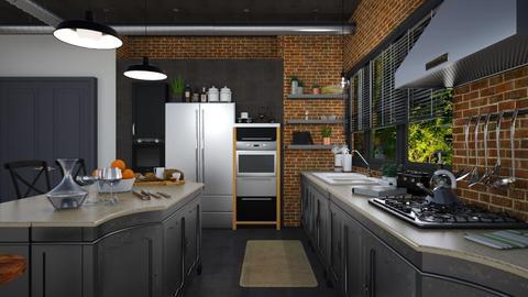 industrial  kitchen - Kitchen  - by danielabucica