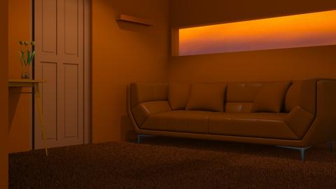 Orange 2 - Living room  - by designkitty31