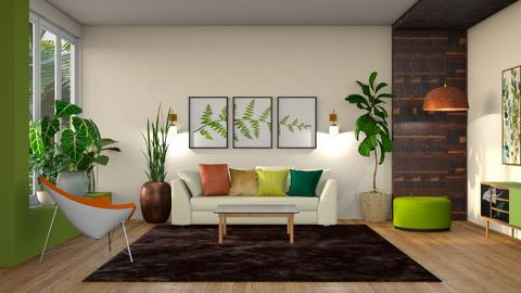 Green and Leafy - Living room  - by yonvie