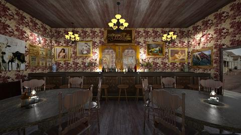 Western Saloon  - by  krc60