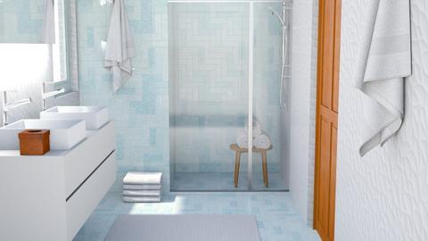 Bright minimal bathroom - Modern - Bathroom  - by Norbosa