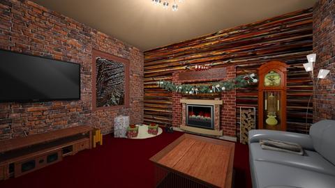 Christmas - Rustic - Living room  - by Louisa caulton