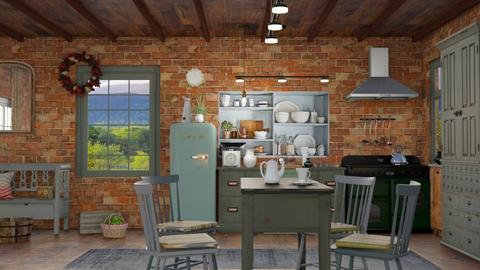Old farmhouse kitchen - by milyca8