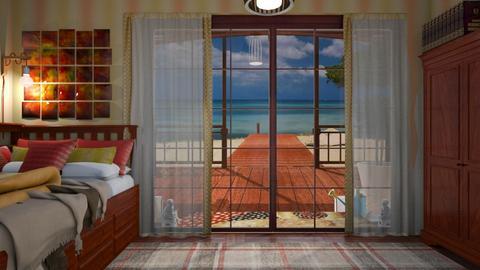 wind an water - Bedroom  - by Karen Priest