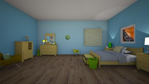 yellow green - Bedroom  - by 29catsRcool