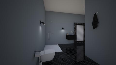 black bedroom and bathroo - Bedroom  - by 18bryhermmoret