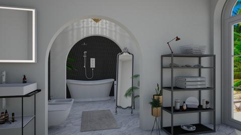 all white bathroom - Bathroom - by kennedycoleman