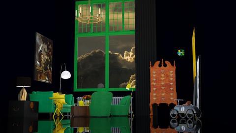 Green Yellow Black - Minimal - Living room  - by HenkRetro1960