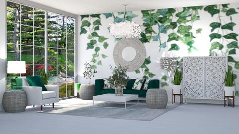 GREEN VINES LIVING ROOM - Modern - Living room  - by RS Designs