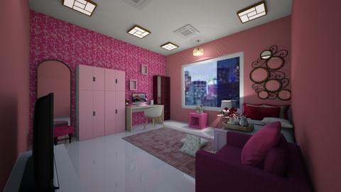 pink bedroom - Bedroom  - by siddhi0103
