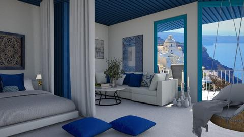 GreeceMood - Bedroom  - by Ebru Tekneci