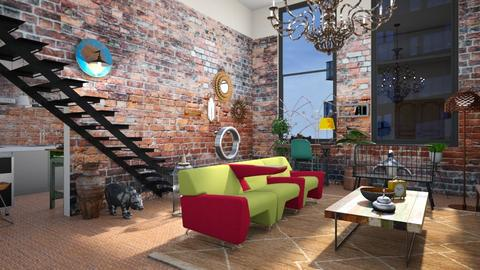 Eclectic industrial - Eclectic - Living room  - by augustmoon
