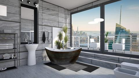 M_ GB - Modern - Bathroom  - by milyca8