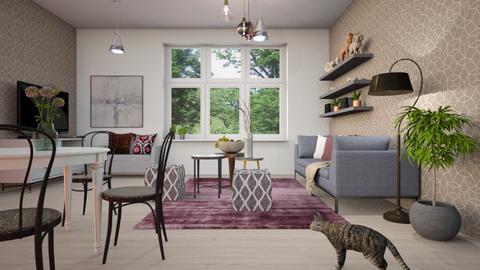 Plum - Living room  - by ZuzanaDesign