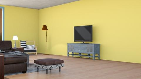 Attic Apt - Country - Living room  - by Rodrigo Aguilera Rodriguez