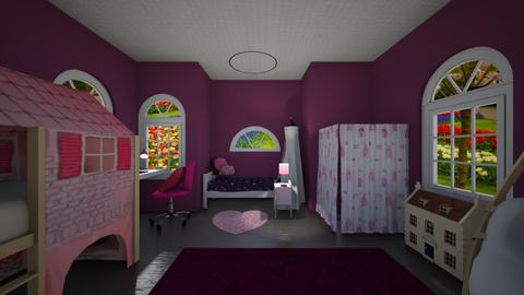 Pink Poppie - Kids room  - by Peacockrooms