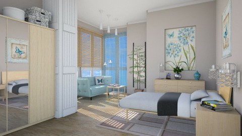 M_Blue butterflies - Modern - Bedroom  - by milyca8