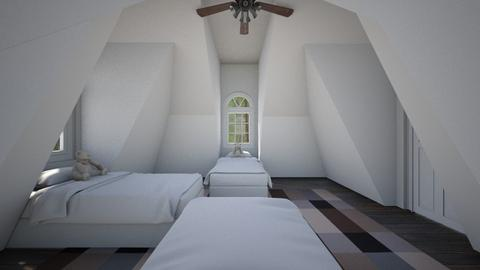 Simple Attic Room 4 - Bedroom  - by SammyJPili