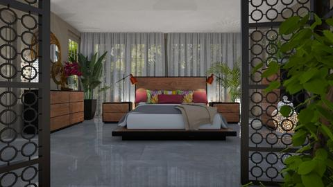 mod bed - Bedroom  - by Bonnie Chappell