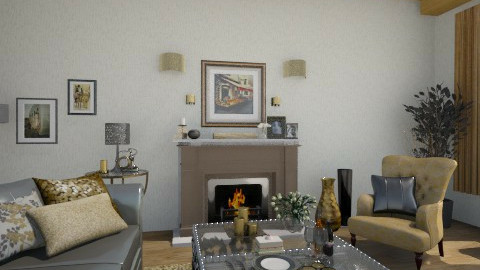 Winter gold moments - Classic - Living room  - by zarky