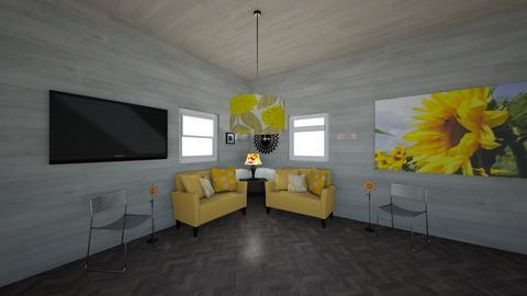 Sunflower Dream - Modern - Living room - by Unicorn43794
