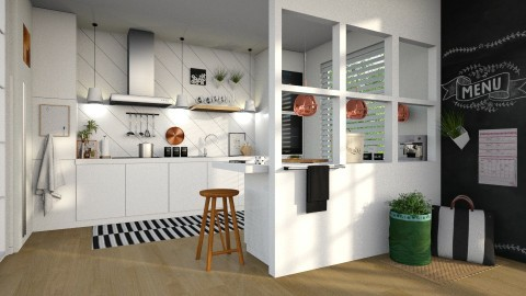 White Kitchen - Minimal - Kitchen - by deleted_1587966089_ArcticMoon