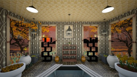 JacuzziRoom - Minimal - Bathroom  - by lori gilluly