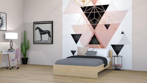 Pink Geometric - Bedroom  - by deleted_1597216413_horseygirl Xx