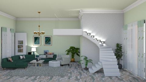 staircases - Living room  - by nat mi