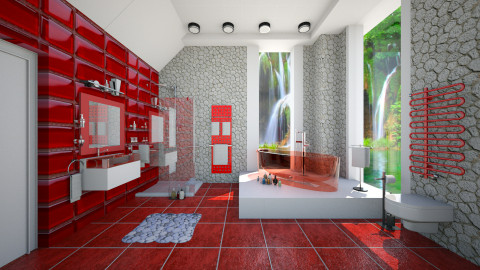modern in red - Modern - Bathroom  - by Ida Dzanovic