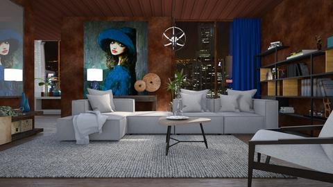 M_ Blue Hat - Living room  - by milyca8