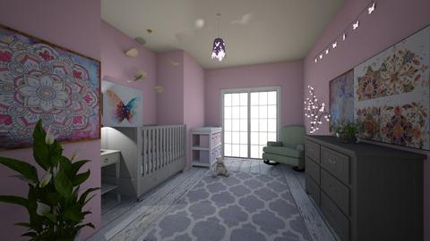 pink girl - Kids room  - by emsph