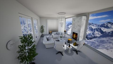 Snowy mountain penthouse - Living room  - by ShabrookeD14