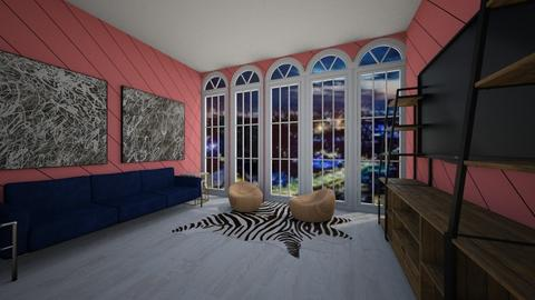 Candy Stripes - Living room  - by Higuysimnothere