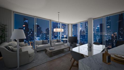 Night Sky Penthouse - Living room  - by Jeburs