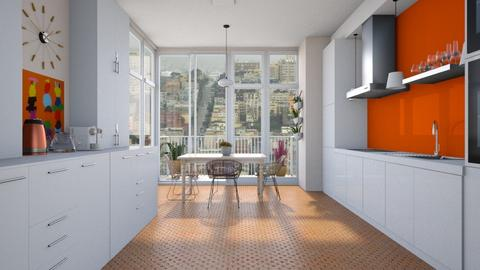 Small with big windows - Modern - Kitchen  - by augustmoon