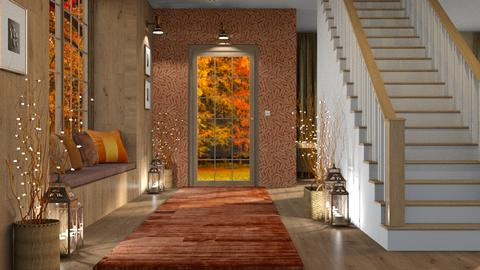 Autumn Colors Hallway - by GraceKathryn