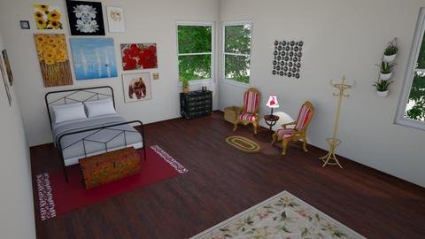 boho hand painted - Bedroom - by maddieameek