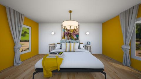 Rustic Mod Bedroom - Bedroom  - by KylaTH