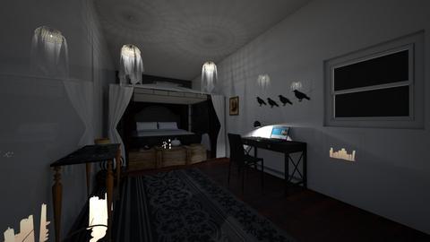 Dark - Bedroom  - by aidelizdiaz1022