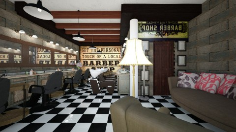 barber basement shop - Vintage - by Alexis93
