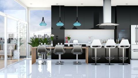 black - Modern - Kitchen  - by aletamahi