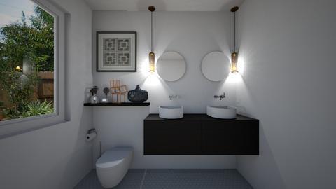 Mid Century Bathroom - by KierraClumdesign