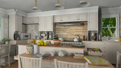 A Touch of Country - Rustic - Kitchen  - by Bibiche