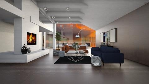 beach modern villa - Living room  - by sarasepideh