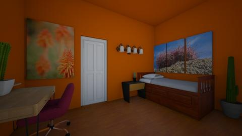 Mono Carnelian Desert - Bedroom  - by FlyinSquirl