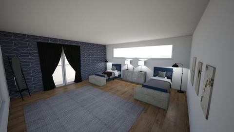 interior challenge 6  - Bedroom  - by faith easley