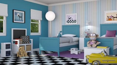 Kids Checkered Room - Kids room  - by GraceKathryn